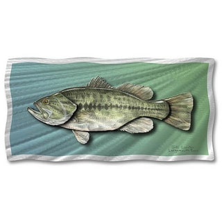 Jeff Currier 'Largemouth Bass' Metal Wall Art