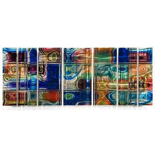 Ash Carl 'Looking' 7-panel Abstract Metal Wall Art