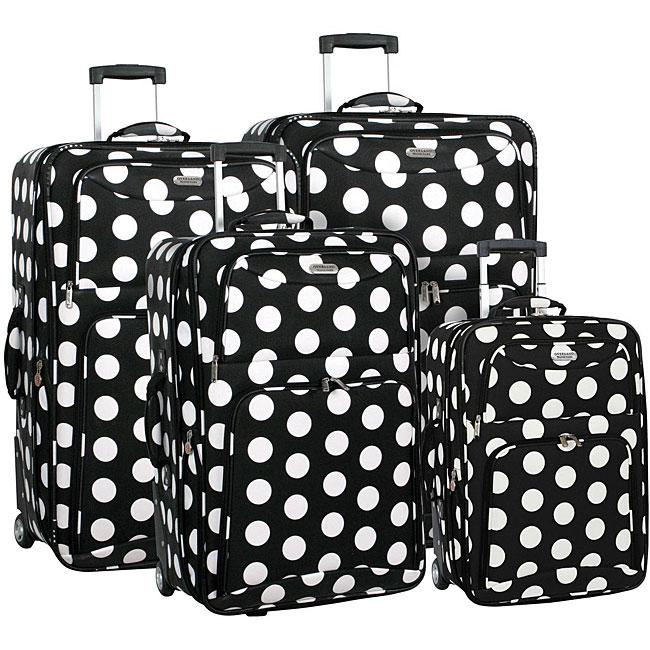 Overland Travelware Polka Dot 4-piece Luggage Set