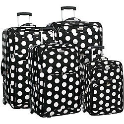 Overland Travelware Polka Dot 4-piece Luggage Set