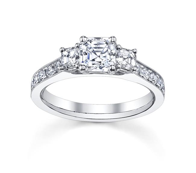 14k White Gold 1 1/2ct TDW Emerald-cut Diamond Engagement Ring (H-I, VS1-VS2)