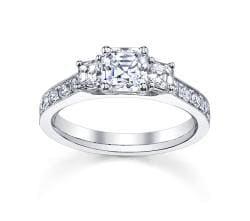 14k White Gold 1 1/2ct TDW Emerald-cut Diamond Engagement Ring (H-I, VS1-VS2)