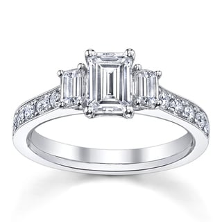 14k White Gold 1 1/2ct TDW Diamond Engagement Ring (H-I, VS1-VS2)