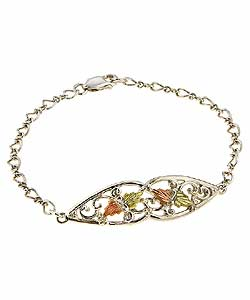 Black Hills Gold and Sterling Silver Bracelet