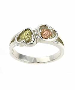 Black Hills Gold and Silver Heart Ring