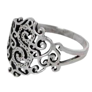 Sterling Silver 'Lace in Love' Cocktail Ring (Thailand)