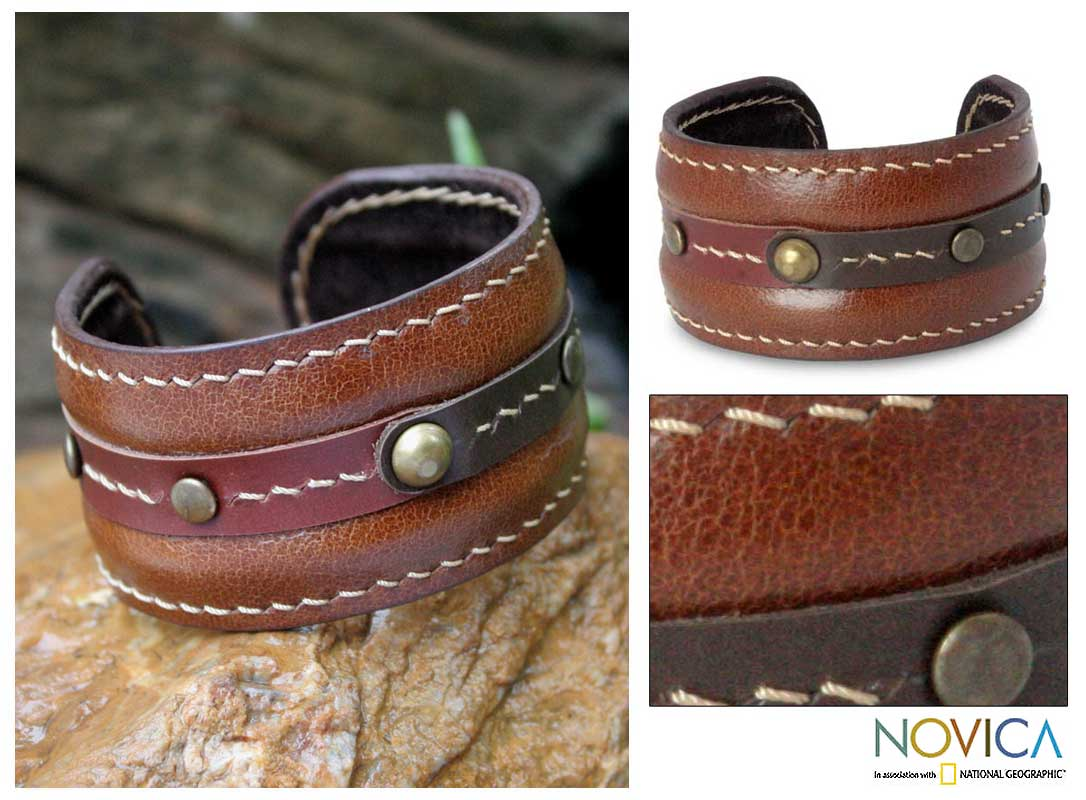 Leather 'Going Solo' Cuff Bracelet (Thailand)