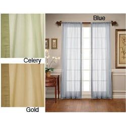 Arden Silk Border Sheer Window Panel Pair