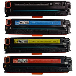 Hewlett Packard CB540, CB541, CB542, CB543 Toner Set (Remanufactured)