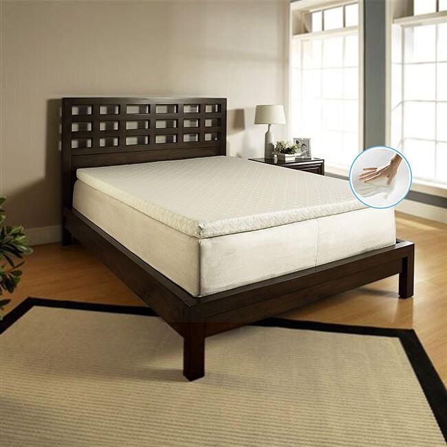 Slumber Solutions Bedroom Furniture Memory Foam 14 Inch Queen Size Bed