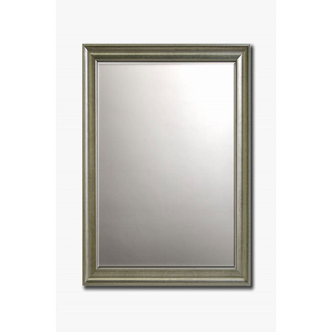 Old world silver framed beveled wall mirror 36 x 30 for Silver framed mirrors on sale