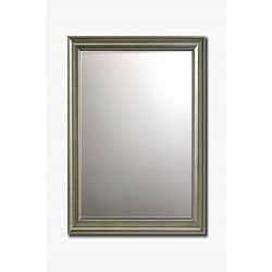 "Old World Silver-Framed Beveled Wall Mirror, 36"" x 30"""