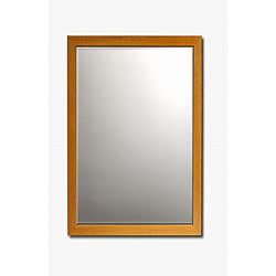 Classic Beech Framed Beveled Wall Mirror