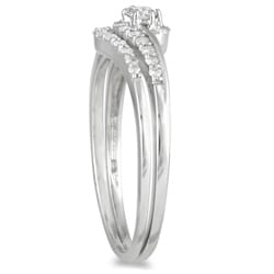 Marquee Jewels 10K White Gold 1/4ct TDW Diamond Bridal Set (I-J, I1-I2)