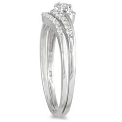 Marquee Jewels 10K White Gold 1/4ct TDW Diamond Bridal Set (I-J, I1-I2)