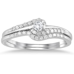 10K White Gold 1/4ct TDW Diamond Bridal Set (I-J, I1-I2)