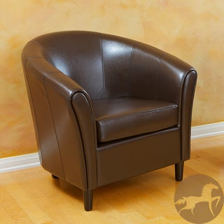 Christopher Knight Home Bonded Leather Espresso Brown Chair