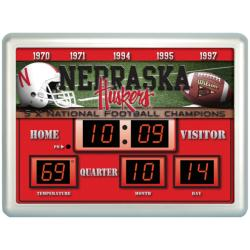 Nebraska Cornhuskers Scoreboard Clock