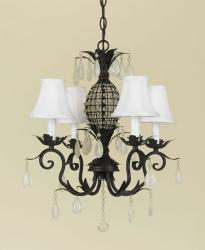 AF Lighting Squire 4-light Dark Brown Oil-rubbed Bronze Mini Chandelier