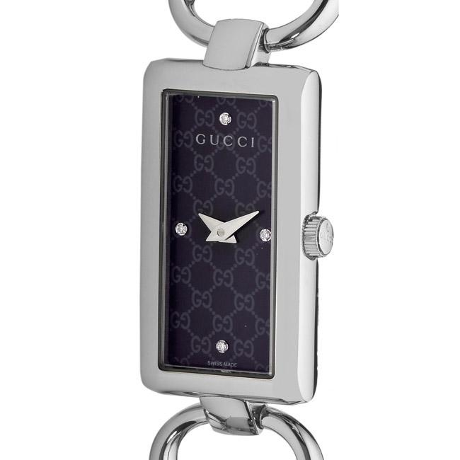 Gucci Women's 'Tornabuoni' Black Face Diamond Watch