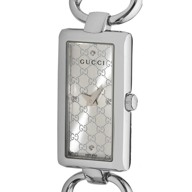 Gucci Women's 'Tornabuoni' Silver Face Diamond Watch