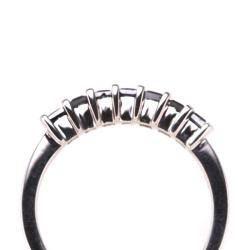 Sterling Silver 1/3ct TDW Black Diamond Ring (Size 7)