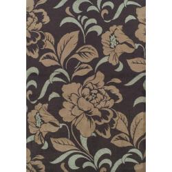 Alexa Abbey Collection Gladstone Modern Brown Rug (6'6 x 9'4)