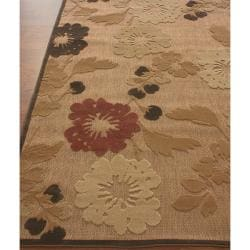nuLOOM Hand-carved Alfresco Indoor/ Outdoor Sand Rug (5'2 x 7'6)