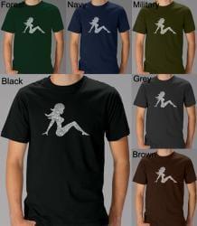 Los Angeles Pop Art Men's Mudflap Girl T-shirt