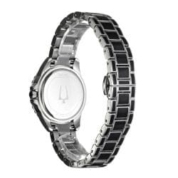 Bulova Women's 'Diamonds' Stainless Steel with Enamel Quartz Watch