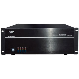 PylePro PT8000CH Amplifier - 1000 W RMS - 8 Channel