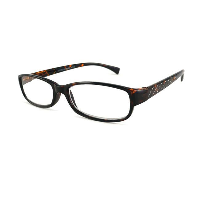 Urban Eyes Women's Crystal Tortoise Reading Glasses
