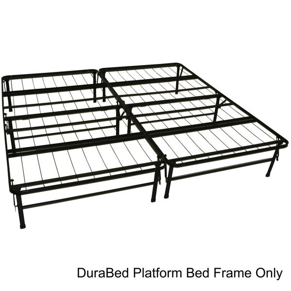 Durabed king size heavy duty steel foundation frame in for King size bed frame