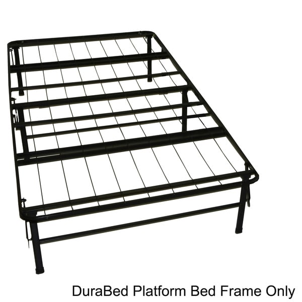 DuraBed Twin-size Heavy Duty Steel Foundation & Frame-in-One Mattress Support System Platform Bed Fr