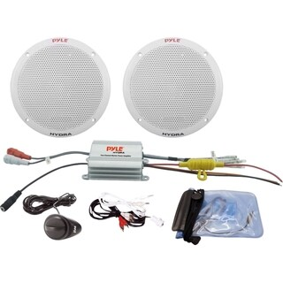 Pyle 2 Channel Waterproof MP3/iPod Amplified 6.5'' Marine Speaker Sys