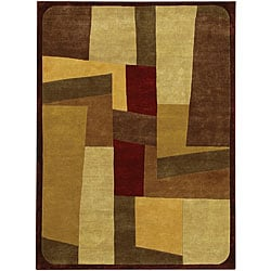 Hand-Knotted Half-Inch Mandara Wool Rug (7'9 x 10'6)