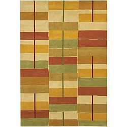 Hand-Knotted Mandara Multicolor Wool Area Rug (7'9 x 10'6)