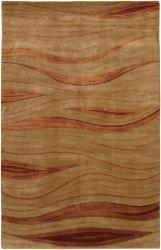 Hand-Knotted Red/Beige Mandara Wool Rug (7'9 x 10'6)