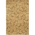Hand-knotted Mandara Floral Brown Wool Rug (7'9 x 10'6)