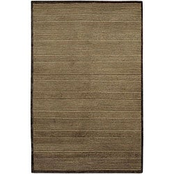 Hand-knotted Mandara Mandara Brown Wool Rug (7'9 x 10'6)