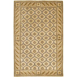 Hand-knotted Mandara Ivory Wool Rug (7'9 x 10'6)