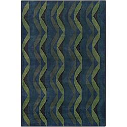 Hand-Tufted Zig-Zag Mandara Wool Rug (7'9 x 10'6)