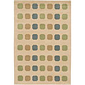 Hand-tufted Mandara Beige New Zealand Wool Rug (5' x 7'6)