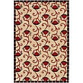 "Traditional Hand-Tufted Mandara Ivory New Zealand Wool Rug (5' x 7'6"")"