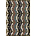 Hand-Tufted Abstract Stripe Mandara Wool Rug (5' x 7'6)