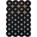 Hand-tufted Mandara Black Ring Wool Rug (7'9 x 10'6)