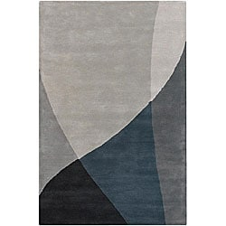 Hand-tufted Mandara Grey Wool Rug (7'9 x 10'6)