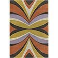 Hand-Tufted Mandara Wool Abstract Rug (5' x 7'6)