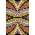 Hand-Tufted Mandara Wool Abstract Rug (5' x 7'6)