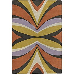Hand-Tufted Plush Mandara Wool Rug (7'9 x 10'6)